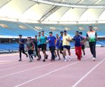 Kiren Rijiju meets athletes