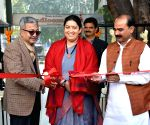 Smriti Irani inaugurates refurbished Handloom Haat