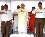 Bhagwat, Gadkari, Advani at RSS Vijaya Dashmi programme