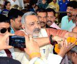 Giriraj Singh at Patna Airport