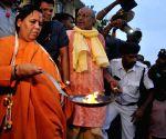 Uma Bharti performs Ganga Aarti