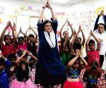 Sanjay Gandhi participates in Yoga session with Anganwadi Children