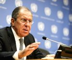 UN GENERAL ASSEMBLY-LAVROV-PRESS CONFERENCE