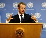 UN-FRANCE-UNGA-MACRON-PRESS CONFERENCE