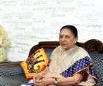 UP Governor Anandiben Patel on a two-day visit of Gujarat