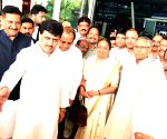 Meira Kumar at airport