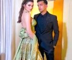 Urvashi Rautela makes ethnic statement in leather at Neha Kakkar's wedding
