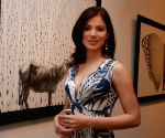 Urvashi Sharma at Prakash Ghadge art event.
