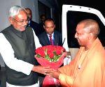 Yogi meets Nitish Kumar