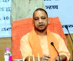 Yogi Adityanath holds roadshow in Hyd for GHMC polls
