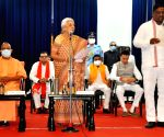 Free Photo: Uttar Pradesh Chief Minister Yogi Adityanath on Sunday expanded his cabinet by inducting seven new ministers. All the new ministers were administered oath of office and secrecy by Governor Anandiben Patel at a hurriedly convened ceremony at the Raj Bhavan in Lucknow
