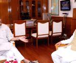 Uttarakhand CM meets Gajendra Singh Shekhawat