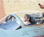 Uttarlai (Rajasthan): Defence Minister Nirmala Sitharaman in the MIG-21 Bison cockpit