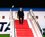 Uzbek President Shavkat Mirziyoyev arrives in Ahmedabad