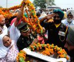 Vain Poin (Punjab): Last Rites of Naib Subedar Paramjit Singh