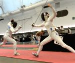 Melanie McCann v/s Malinka Hoppe Montanaro during the finals of Canada Cup Fencing Championship