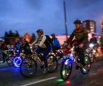 CANADA-VANCOUVER-BIKE THE NIGHT