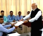 Modi files nomination in Varanasi, shows off NDA strength