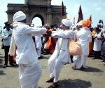 Varkari procession  at Gateway of India
