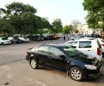 Vehicles parked at Connaught Place