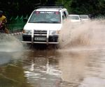 Waterlogged streets of Delhi