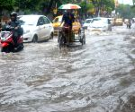 Heavy rains - Water-logged streets