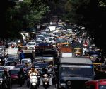 Vehicles stuck in a traffic jam at JC Road after authorities announced relaxations in COVID-19 lockdown, in Bengaluru on Wednesday 16th June 2021