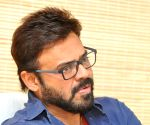 Venkatesh during press conference today in Hyderabad