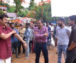 Venky Mama Working Stills- 2
