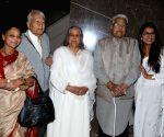 Veteran actors Seema Deo with husband Ramesh Deo, Shubha Khote, Viju Khote and Bhavana Balsavar at the inauguration of ActFest