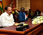 Venkaiah Naidu, Zimbabwe's Vice President during delegation-level talks