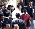 Venkaiah Naidu arrives to pay last respects to George Fernandes