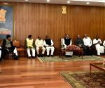 Vice President Naidu meets the floor leaders
