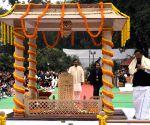 Martyrs' Day - Venkaiah Naidu pays homage at Gandhi Smriti