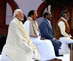 PM Modi attends Sarva Dharma Prardhana at Gandhi Smriti on Martyrs Day