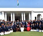 Venkaiah Naidu meets National Service Scheme volunteers