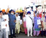 Protests against Captain Amarinder Singh