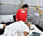 Victims of a factory blast at Amritsar Hospital