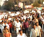 Suryakanta Misra, Shyamal Chakraborty participate in a rally organised by the victims of chit fund scam