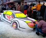 Internet lauds Kashmiri youth's snow car model
