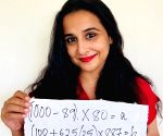 Free Photo: Vidya Balan gives math equation for special viewing of trailer of 'Shakuntala Devi