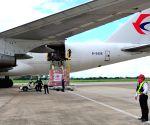 LAOS VIENTIANE CHINA EMERGENCY RELIEF HANDOVER