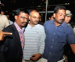 Vijay Kumar arrives at Kempegowda International Airport