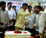Andhra CM celebrates new year