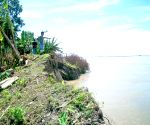Villagers are forced to shift after heavy erosion caused by Brahmaputra River