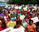 Villagers' demonstration against Konkan refinery