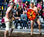 CROATIA VINKOVCI ROMAN DAYS GLADIATOR'S BATTLE