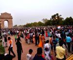 Visitors at India Gate