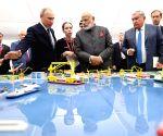 PM Narendra Modi visits ship-building facility along with Russian President Vladimir Putin