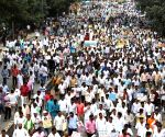 Protest rally by supporters of DK Shivakumar